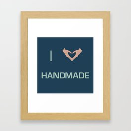 I heart Handmade Framed Art Print