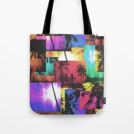 Tree Patterns with Sunset Tote Bag