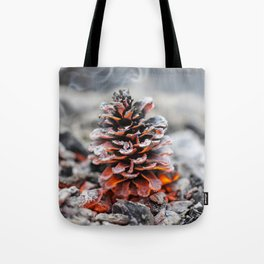Winter Pinecone Tote Bag