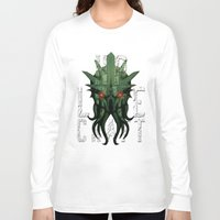 lovecraft Long Sleeve T-shirts featuring H.P. Lovecraft by MikeRush