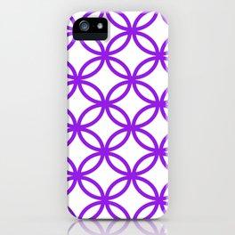 Interlocking Purple iPhone Case