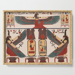 Ancient Egyptian pattern design Serving Tray
