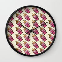 princess bubblegum Wall Clocks featuring BUBBLEGUM by SuperPills