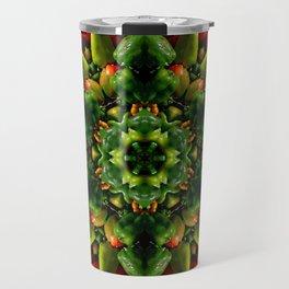 Peppy pepper mandala - green center Travel Mug