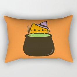 Cat bat with cauldron Rectangular Pillow