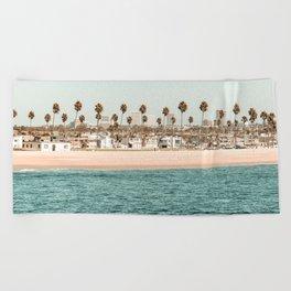 Vintage Newport Beach Print {1 of 4} | Photography Ocean Palm Trees Teal Tropical Summer Sky Beach Towel