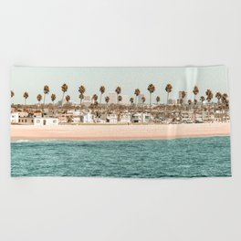 Vintage Newport Beach Print {1 of 4} | Photography Ocean Palm Trees Teal Tropical Summer Sky Beach Towel