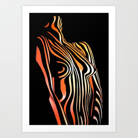 Horny Tigress Art Print