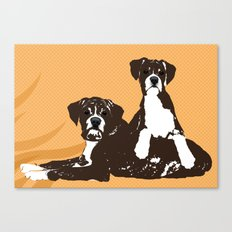 Two Boxer Dogs Canvas Print