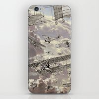 airplanes iPhone & iPod Skins featuring airplanes 2 by Кaterina Кalinich