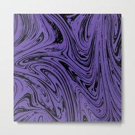 Ultraviolet Marble Metal Print