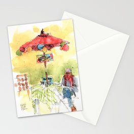Face Painting Lady Stationery Cards