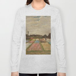 Classic Art - Flower Beds in Holland - Vincent van Gogh Long Sleeve T-shirt