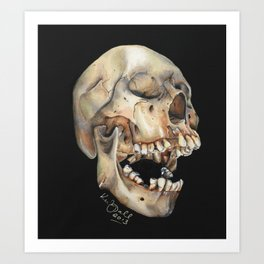 Open Mouth Skull Art Print