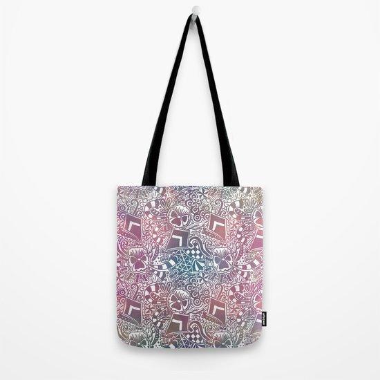 Theta Print-Pastel Tote Bag