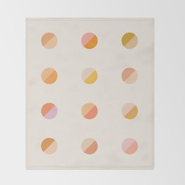 Abstraction_DOT_DOT_Colorful_Minimalism_001 Throw Blanket