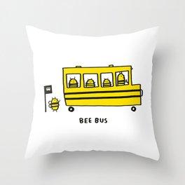 Bee Bus Throw Pillow