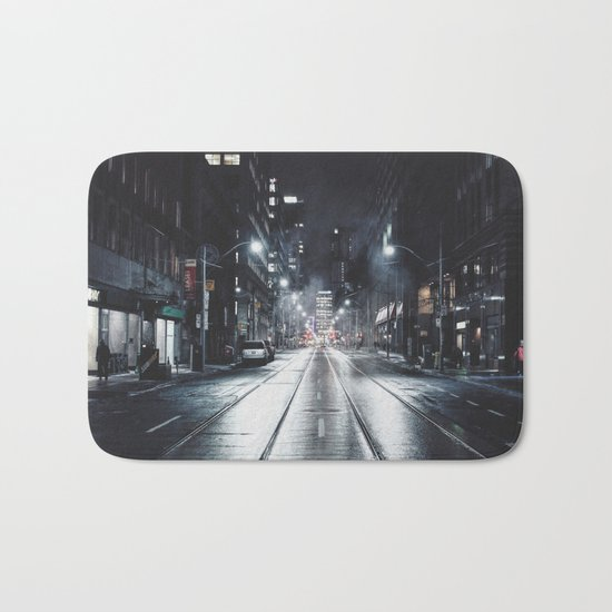 Night street reflect Bath Mat