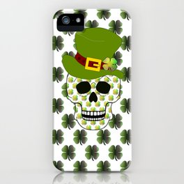 St Paddys Skull - St Patrick's Day iPhone Case