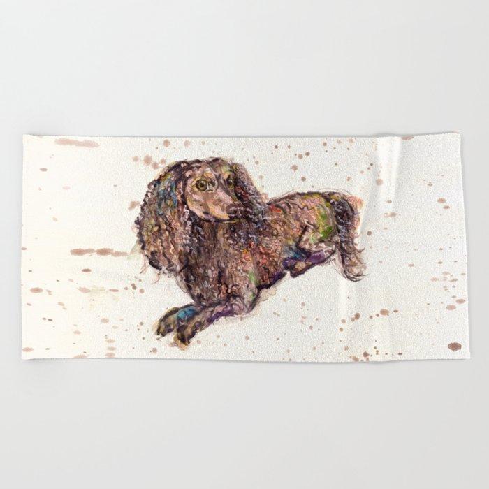 Dachshund Dog Beach Towel