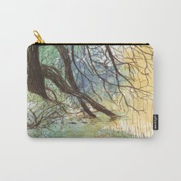 Trees bending over the water Carry-All Pouch