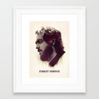 kubrick Framed Art Prints featuring Stanley Kubrick by Mahdi Chowdhury