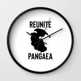 reunite pangea Wall Clock