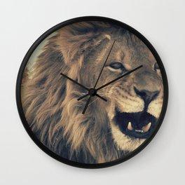 Lion on a walk Wall Clock