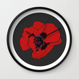 Poppy time Wall Clock