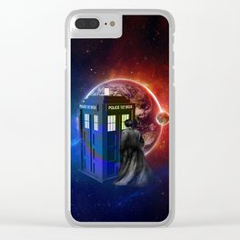 Tardis Dr Who of Nebula Clear iPhone Case