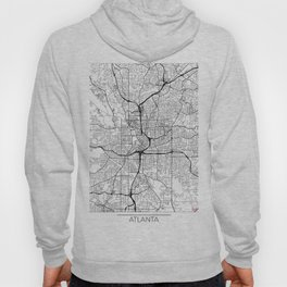 Atlanta Map White Hoody