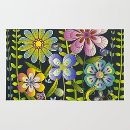 Petty Flowers Pattern 1 Rug