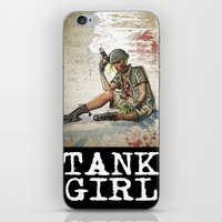 tank girl iPhone & iPod Skins featuring Tank Girl by Joe Badon