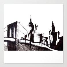 Brooklyn Bridge.. Canvas Print