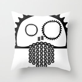 MTB Skull Throw Pillow