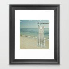 My White Dress. Framed Art Print