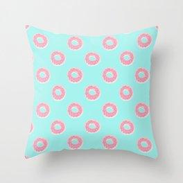 Donut Ocean Throw Pillow