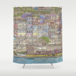 Old houses, Porto, Portugal Shower Curtain