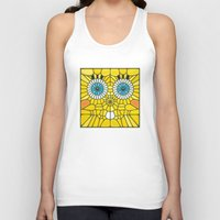 spongebob Tank Tops featuring Spongebob Voronoi by Enrique Valles