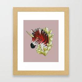 Red Zebracorn Framed Art Print