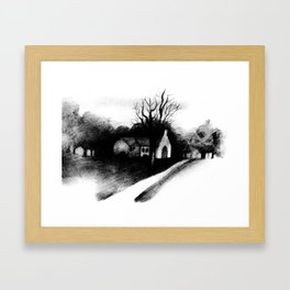 Gone to Hear the Word Framed Art Print