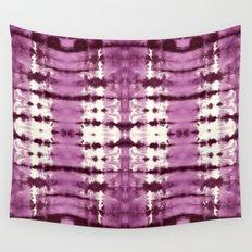 Black Cherry Satin Shbori Wall Tapestry