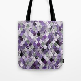 Mermaid Purple and Silver Tote Bag