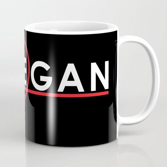 Lovegan (Love Vegan), on black Mug