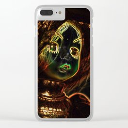 Neon Girl Clear iPhone Case