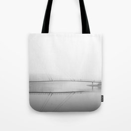 Winter Fog at St. George's Quay, Lancaster Tote Bag