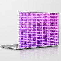 mosaic Laptop & iPad Skins featuring Pink purple mosaic by David Zydd