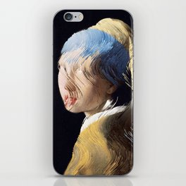 Girl With a Sorted Earring iPhone Skin