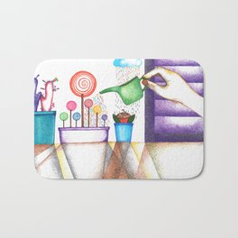 imagine (pointillism) Bath Mat