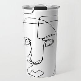 Blind Contour Line Drawing #1 Travel Mug